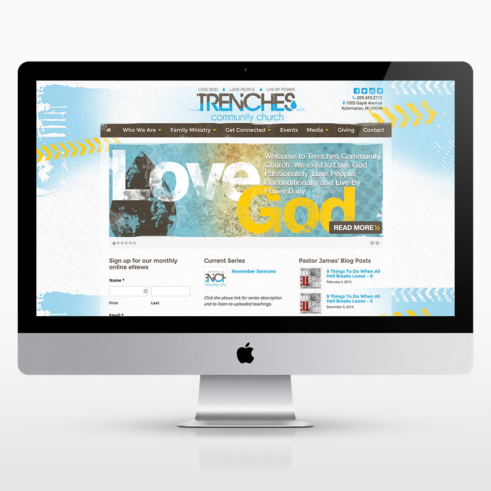 Church Website Design Trenches Commun...
