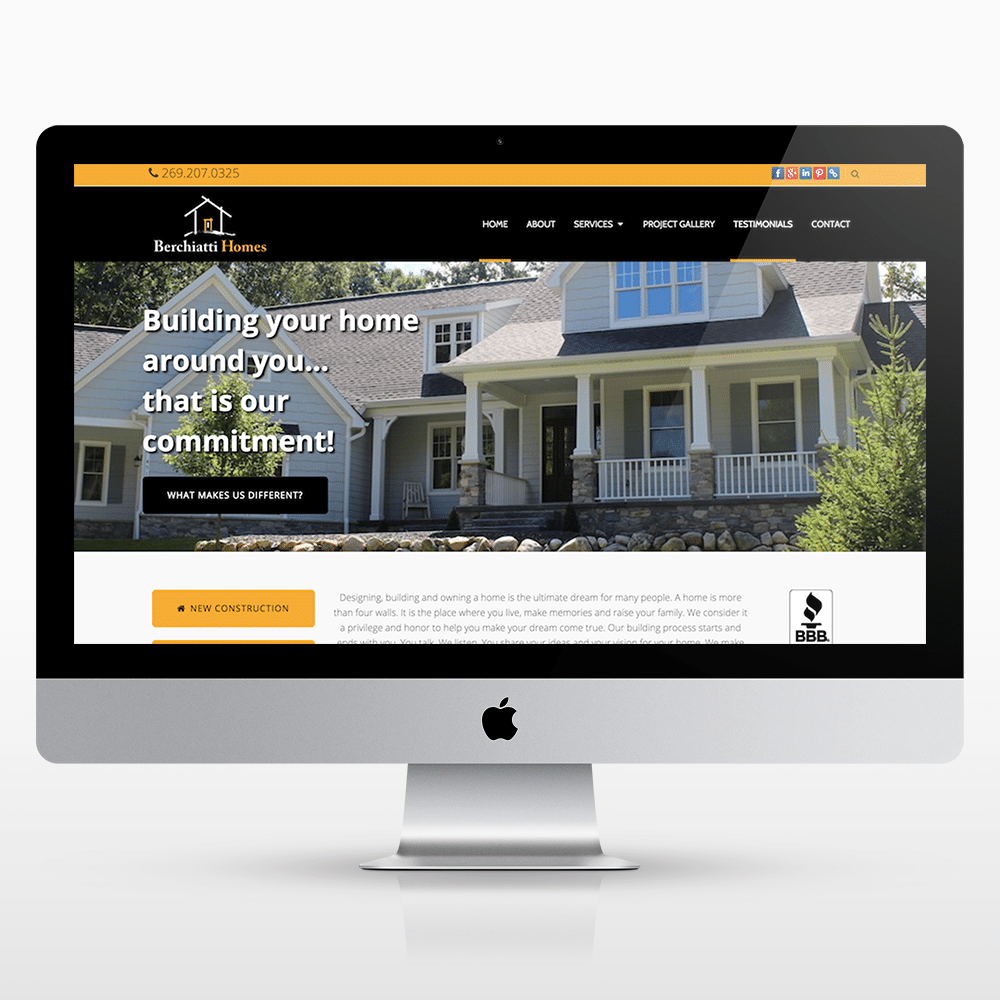 Homebuilder Website - Kalamazoo Web Design | Small Business DESIGN ...