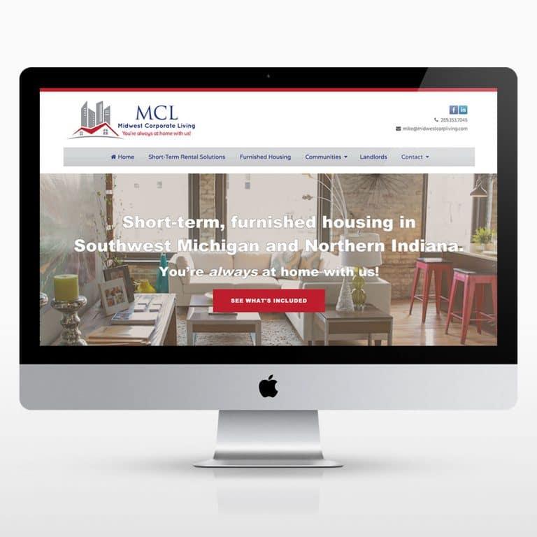 Corporate Rental Website Design