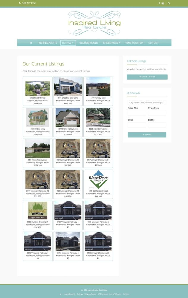 Home Listings Page