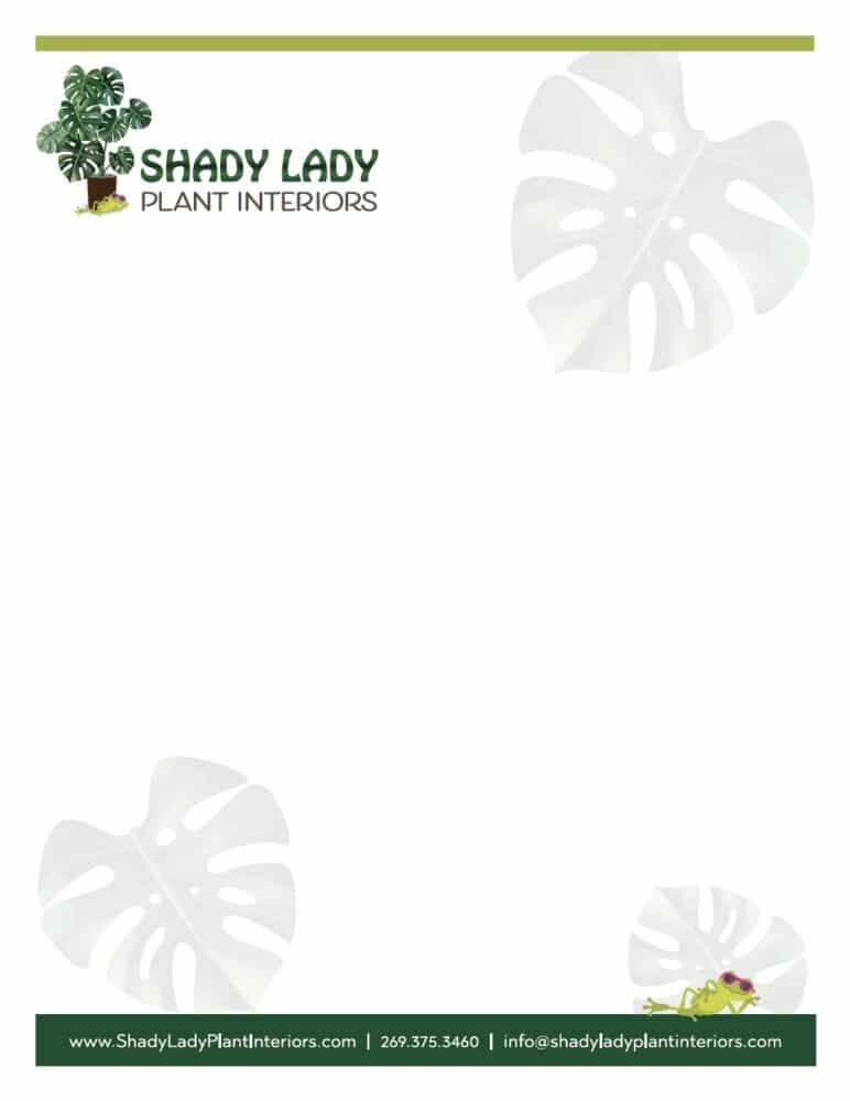 Shady Lady Letterhead