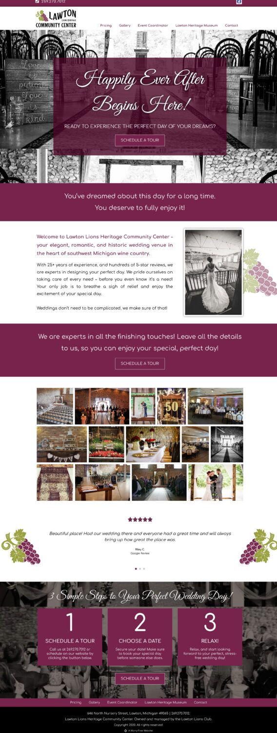 Southwest MI Wedding Venue - Lawton Lions Heritage Community Center