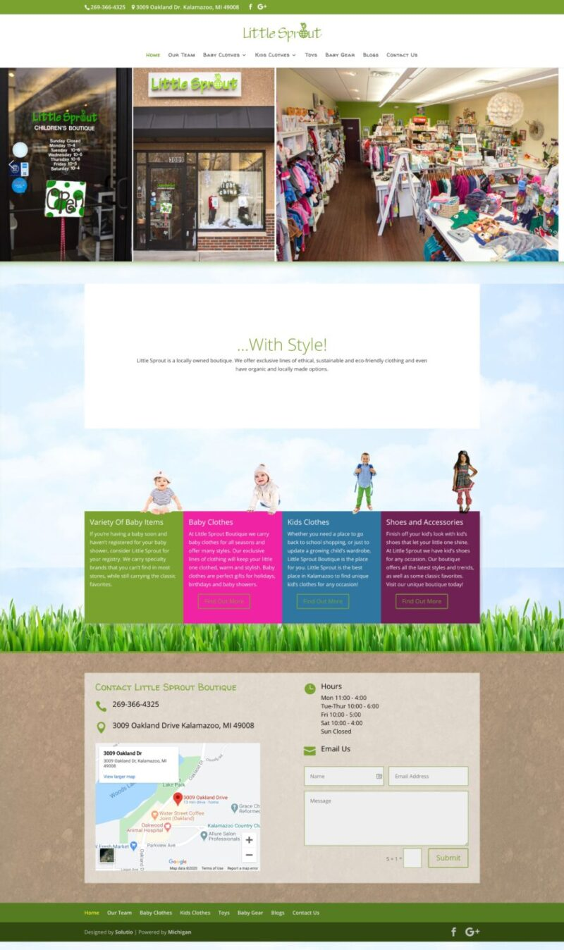 Old Little Sprout Website