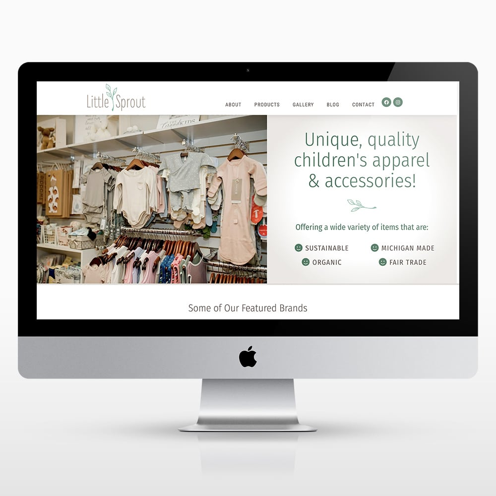 Children's Boutique Website