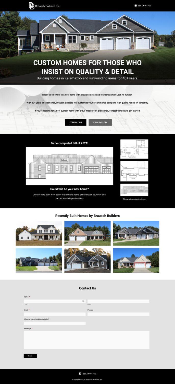 1-page homebuilder website