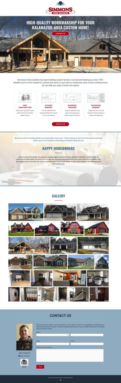 1-page homebuilder brochure website
