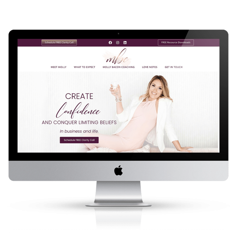 mindset coach website design