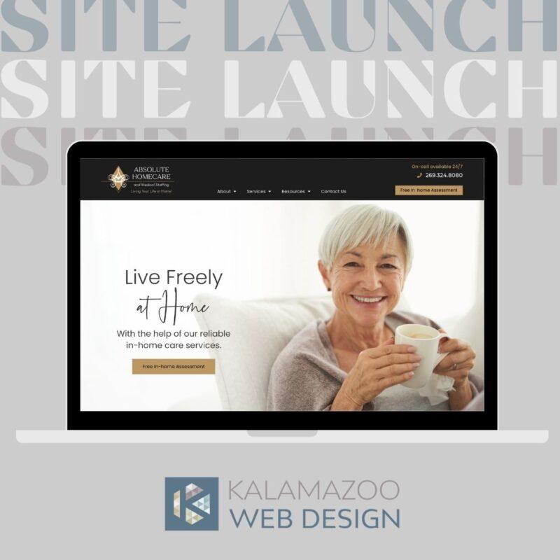 homecare website homepage
