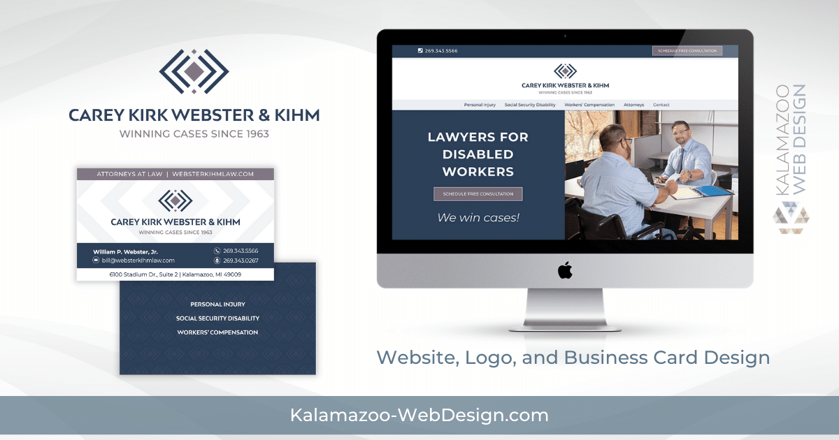 law office website and logo design