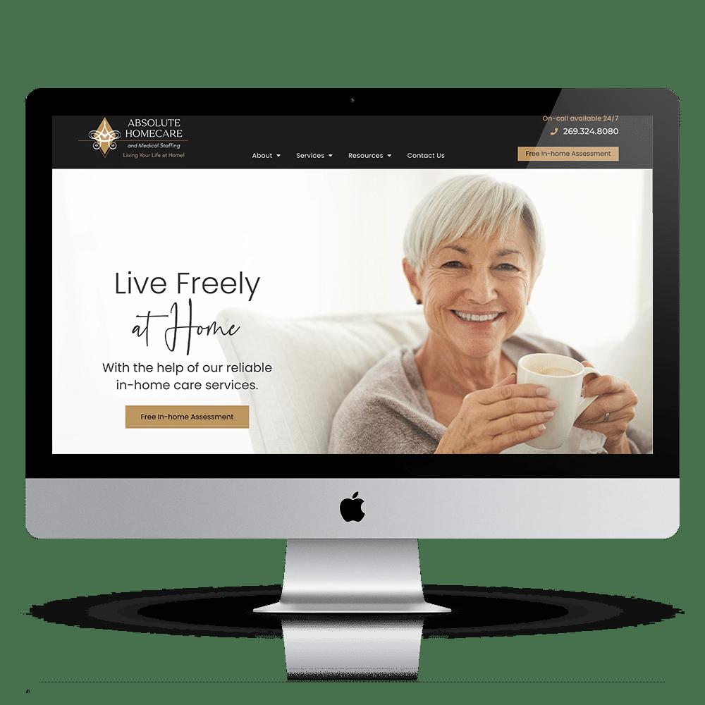 absolute homecare website